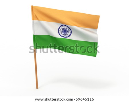 Flag of India. 3d - stock photo