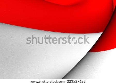Flag of Indonesia. Close Up.