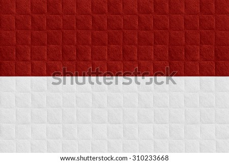 flag of Indonesia or Indonesian banner on check pattern background