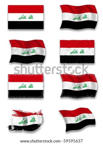 Flag of Iraq - stock photo