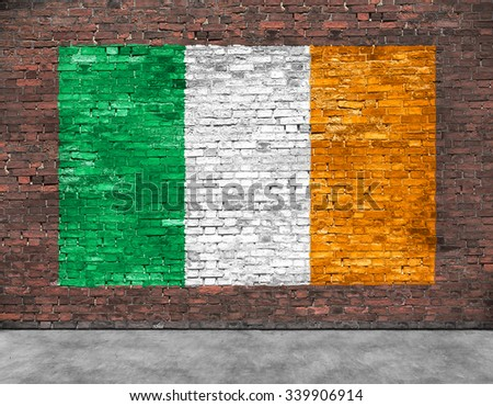 Flag of Ireland and part of foreground