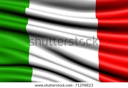 Flag of Italy. - stock photo