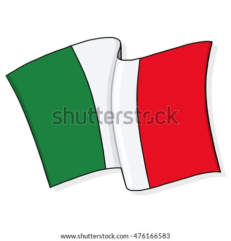Flag of Italy illustration