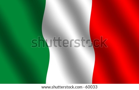 Flag of Italy. Waving effect - stock photo