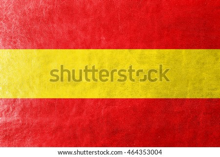 Flag of Karlsruhe, Germany, painted on leather texture