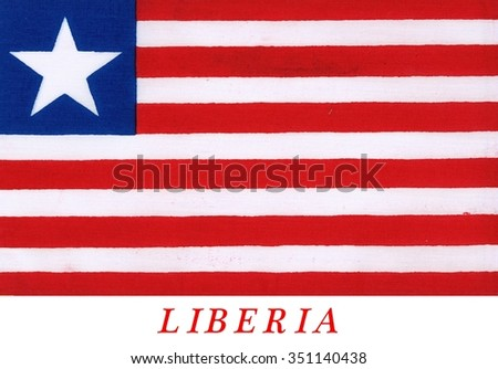 Flag of Liberia - The flag is seen on ships around the world as Liberia offers registration under its flag. Shipping companies do this to avoid taxes and restrictions. Flag of convenience.