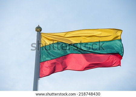 Flag of Lithuania - stock photo