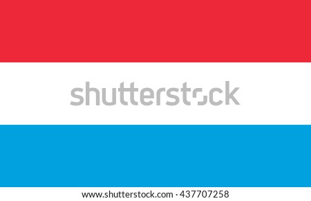 Flag of Luxembourg in correct proportions and colors - stock photo