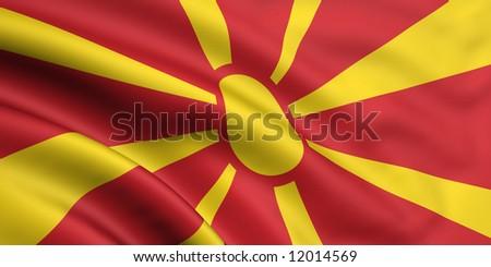 Flag Of Macedonia - stock photo