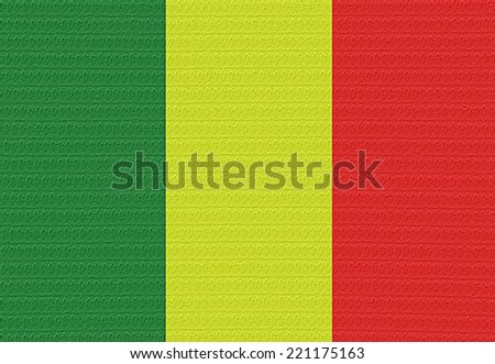 Flag of Mali with a blister on the surface.