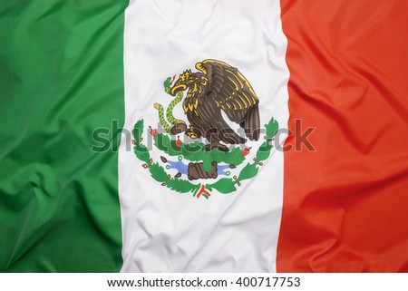 Flag of Mexico as a background