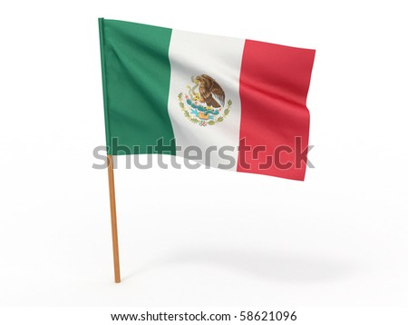 Flag of mexico . 3d - stock photo