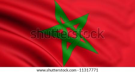 Flag Of Morocco - stock photo