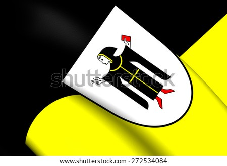 Flag of Munich, Germany. Close Up. - stock photo