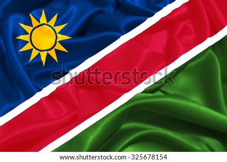 Flag of Namibia - stock photo