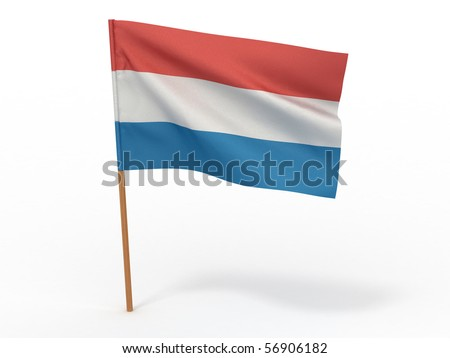 Flag of Netherland. 3d - stock photo