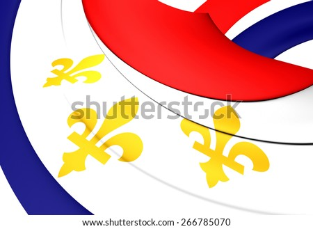 Flag of New Orleans, USA. Close Up.    - stock photo