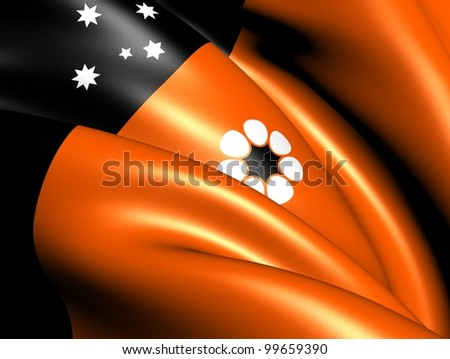 Flag of Northern Territory, Australia. Close Up.
