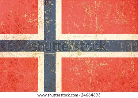 flag of norway grunge - stock photo