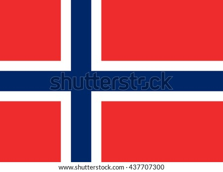 Flag of Norway in correct proportions and colors - stock photo