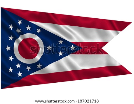 Flag of Ohio state (USA) - stock photo