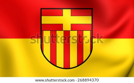 Flag of Paderborn, Germany. Close Up.    - stock photo