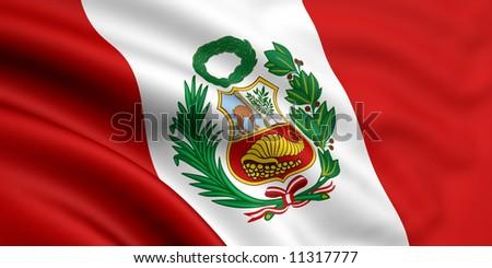 Flag Of Peru - stock photo