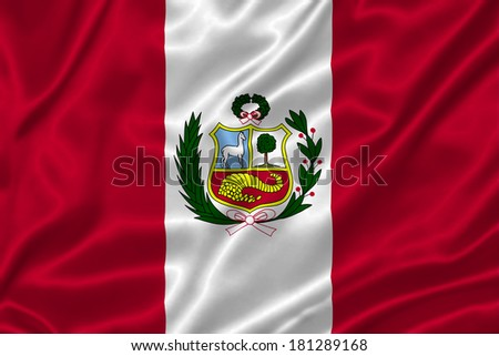 Flag of Peru - stock photo