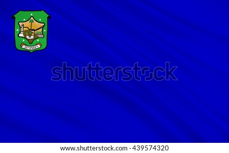 Flag of Ramat Gan is a city in the Tel Aviv District of Israel. 3d illustration - stock photo
