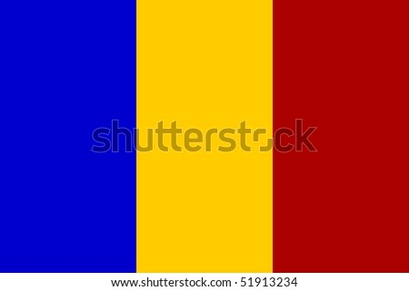Flag of Romania - stock photo