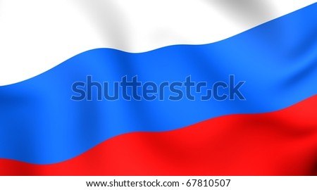 Flag of Russia - stock photo