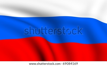 Flag of Russia. - stock photo