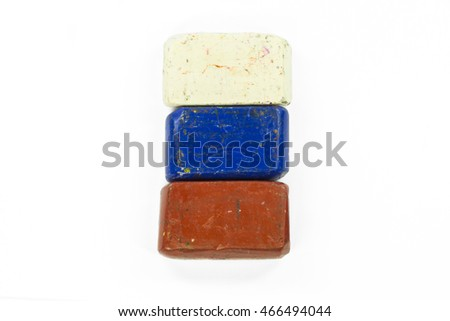 Flag of Russia with wax crayon