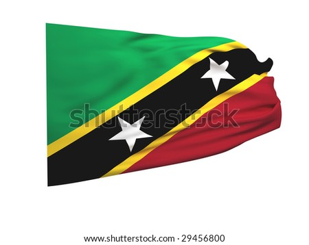 flag of saint kitts and nevis - stock photo