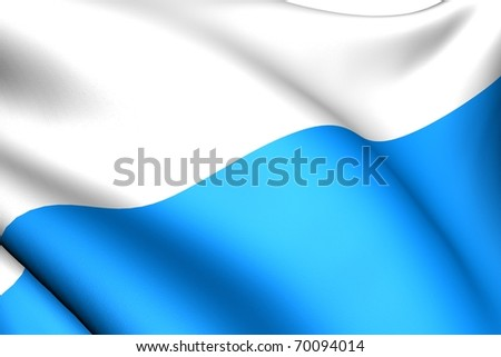 Flag of San Marino. Close up.
