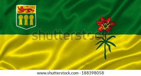 Flag of Saskatchewan - stock photo