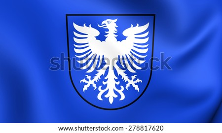 Flag of Schweinfurt, Germany. Close Up.    - stock photo
