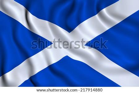 Flag of Scotland. Saint Andrew's Cross. illustration - stock photo