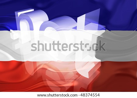 Flag of Serbia and Montenegro, national country symbol illustration wavy net domain website