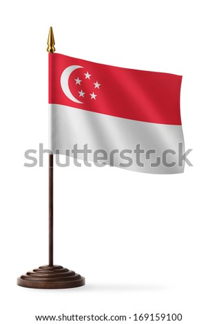 flag of Singapore - table flag