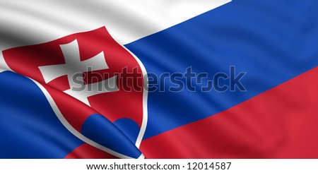 Flag Of Slovakia - stock photo
