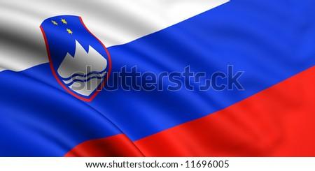 Flag Of Slovenia - stock photo