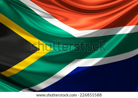 Flag of South Africa. - stock photo