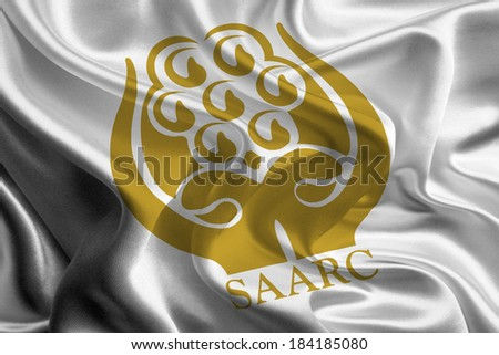 Flag of South Asian Association for Regional Cooperation (SAARC) - stock photo