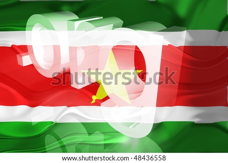 Flag of Suriname, national country symbol illustration wavy org organization website