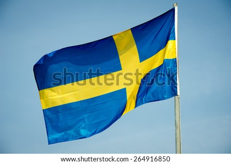 Flag of Sweden - Swedish flag - stock photo
