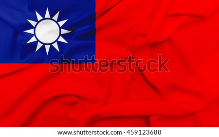 Flag of Taiwan - stock photo