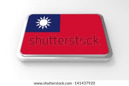 Flag of Taiwan 3D - stock photo
