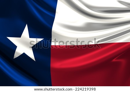 Flag of Texas. - stock photo