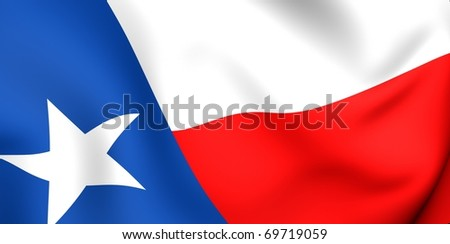 Flag of Texas, USA. Close up. - stock photo
